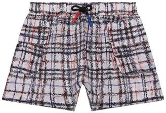 Burberry Scribble Check Shorts