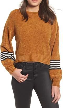 Ten Sixty Sherman Stripe Sleeve Chenille Sweater