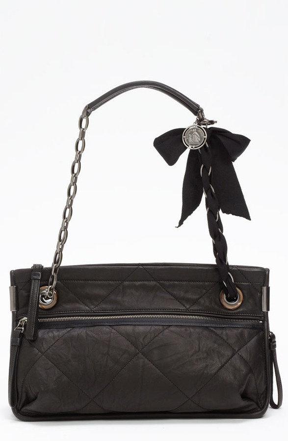 Lanvin 'Amalia - Medium' Leather Shoulder Bag