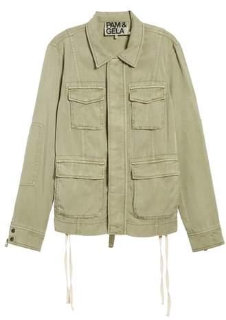 Lace-Up Field Jacket