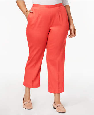 Alfred Dunner Plus Size Pull-On Cropped Pants