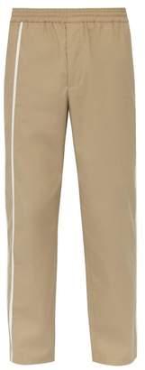 Helmut Lang Side Stripe Cotton Track Pants - Mens - Beige
