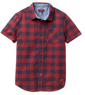 7 For All Mankind Short Sleeve Button Up Shirt (Big Boys)