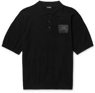 Raf Simons Oversized Appliquéd Cotton-Piqué Polo Shirt