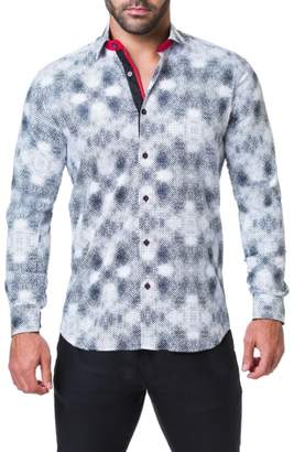 Maceoo Fibonacci Aztec Trim Fit Sport Shirt
