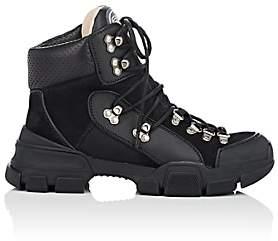 Gucci Women's Mixed-Material Hiker Boots - Black