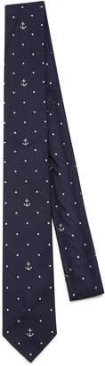 Thom Browne Polka Dot Silk Jacquard Tie
