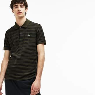Lacoste Men's Regular Fit Striped Cotton Petit Pique Polo