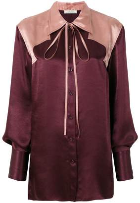 Nina Ricci colour-block oversized shirt