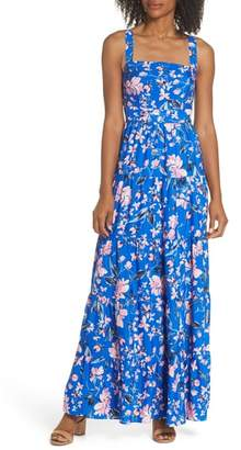 Eliza J Floral Tiered Maxi Dress