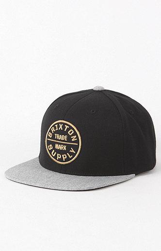 Brixton Oath III Snapback Black Hat