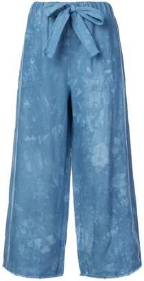 Raquel Allegra elasticated waist wide-leg trousers