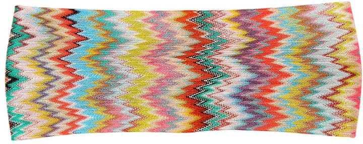 Missoni Zigzag Viscose Knit Headband