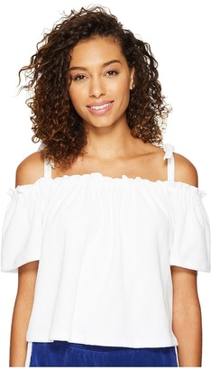 Juicy Couture - Venice Beach Microterry Off the Shoulder Top Women's T Shirt $78 thestylecure.com
