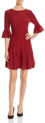 Nic+Zoe Studded Bell-Sleeve Dress
