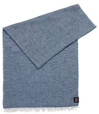 HUGO BOSS Linen-chambray scarf with washed finish