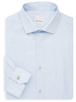 Paul Smith Slim-Fit Mini Paisley Print Dress Shirt