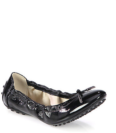 Tod's Patent Leather Ballet Flats