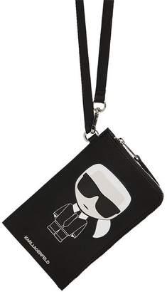 Karl Lagerfeld Paris Iconic Coated Canvas Phone Holder