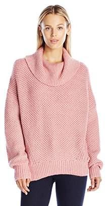Juicy Couture Black Label Women's SWTR Basket Weave Stitch Loose Pullover