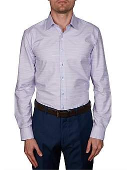 Geoffrey Beene Hoops Cotton/Linen Body Fit Shirt