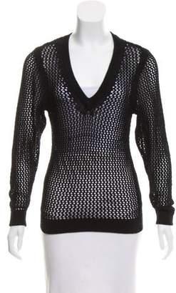Rag & Bone Open-Knit Long Sleeve Sweater