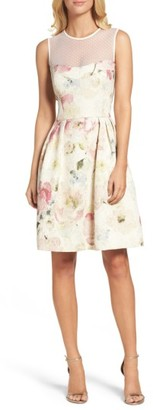 Women's Maggy London Metallic Brocade Fit & Flare Dress $158 thestylecure.com