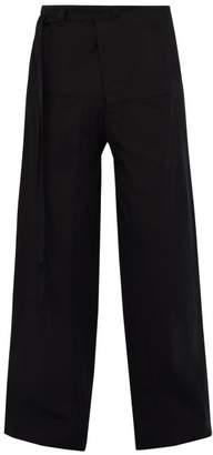446ac82b1b9f Acne Studios Paz Wide Leg Cotton Twill Trousers - Mens - Black