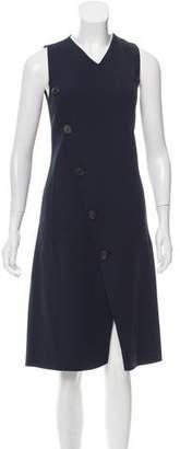 Derek Lam Button-Embellished Wool Dress
