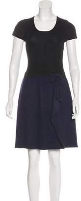 Paule Ka Wool Colorblock Sweater Dress