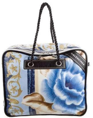 Balenciaga Leather Blanket Bag Blue Leather Blanket Bag