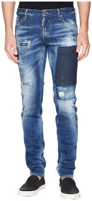 DSQUARED2 Patch Wash Slim Jeans