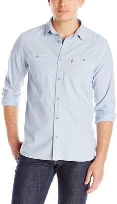 Levi's Men's Marty Chambray Long Sleeve Shirt