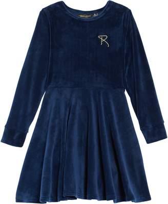 Rock Your Kid Velvet Skater Dress