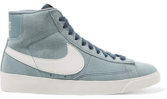 6968d5526880 Nike Blazer Faux Suede And Leather High-top Sneakers - Gray