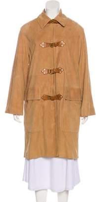 Celine Suede Knee-Length Coat