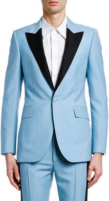 Alexander McQueen Men's Contrast-Lapel Tuxedo Jacket