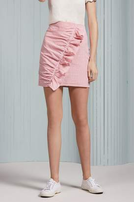 The Fifth Label Ruffle Striped Skirt