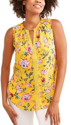 LIFESTYLE ATTITUDE Lifestyle Attitude Women's Floral Printed Sleeveless Top