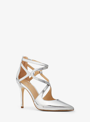 Michael Kors Catia Metallic Leather Pump
