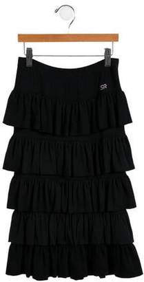 Rykiel Enfant Girls' Tiered Maxi Skirt