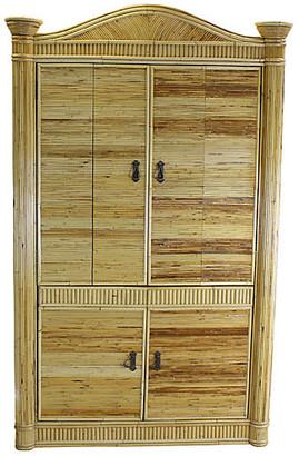 One Kings Lane Vintage Bamboo Armoire - Vintage Bella Home