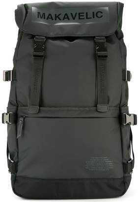 Makavelic Ludus box-logo covered backpack