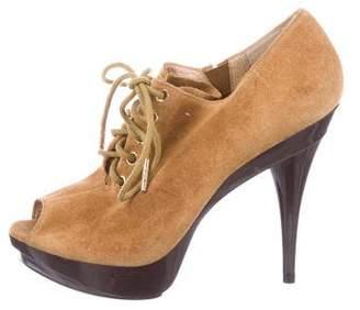 MICHAEL Michael Kors Suede Peep-Toe Boots
