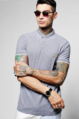 boohoo Jersey Polo With Chest Badge