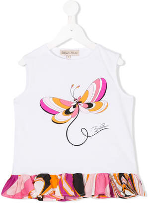 Emilio Pucci Junior butterfly print blouse