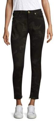 True Religion Jennie Camo Coated Curvy Skinny Jeans