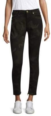 True Religion Jennie Camo Coated Curvy Skinny Jeans