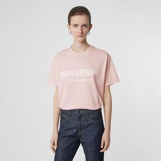 Burberry (バーバリー) - Burberry ロゴプリント コットン オーバーサイズTシャツ