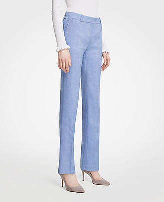 Ann Taylor The Straight Leg Pant In Linen Blend - Curvy Fit